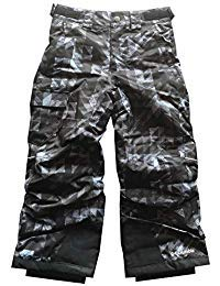 Columbia Youth Boys/Girls Arctic Trip II Insulated Omni-Heat Snow Ski Pants (S (8), Grey camo) by Columbia