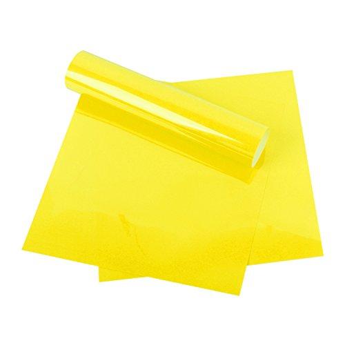 RUSPEPA Heat Transfer Vinyl HTV - Iron On for Silhouette Cameo & Cricut - HTV for Fabrics and Hats - 12x12Inch - 3sheet - Lemon Yellow