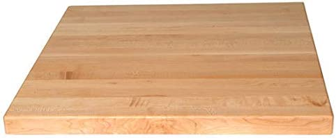 John Boos Square Butcher Block Table Top, 24 W x 24 D x 1-1 2 H, Maple