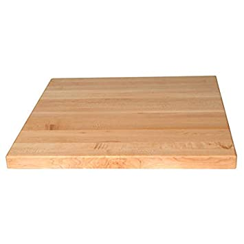 Awesome John Boos Square Butcher Block Table Top 24 W X 24 D X 1 1 2 H Maple Download Free Architecture Designs Embacsunscenecom