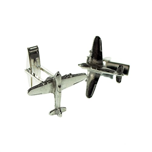 Gtr Men's Cufflinks XDCL002 English Made Hurricane Fighter Aircraft Pewter Cufflinks In Leatherette Box
