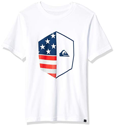 (Quiksilver Boys' Little Americana TEE, White, 3)