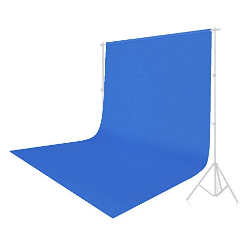 UTEBIT Blue Screen Polyester 6 x 9FT/1.8 x 2.8M Photo Video Backdrop Cloth Wrinkle Resistant Muslin Collapsible Background Sheet Solid Color for Film,Portrait,Photography