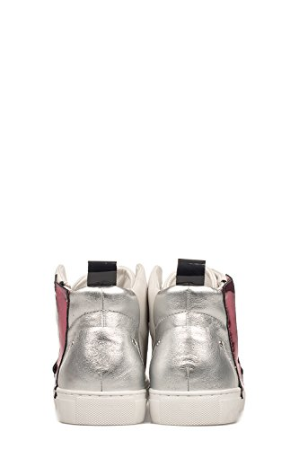 Hi Top London Sneakers 25263KS110 Silver Crime White Women's Leather wZYUnwxgq