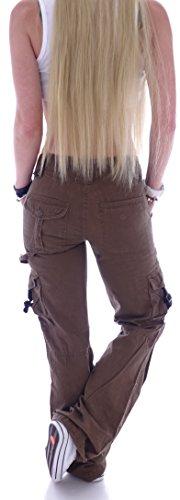 Marrone Donna Style Station cargo Jeans TxqAwXa7