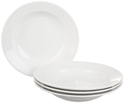 BIA Cordon Bleu Bistro Rim Soup Bowls, Set of 4, White