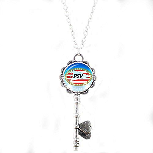 Football Club 25mm Glass Cabochon Necklace Ajax PSV Football Leagues Logo Soccer Club Pendant 3 Key Necklace Literary Jewelry