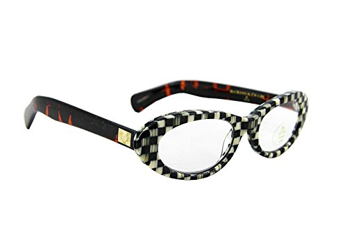- MacKenzie Childs Courtly Check Cat Eye Reading Glasses + (x) 2.5