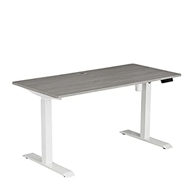 Techni Mobili Automatic Height Adjustable Sit-to-Stand Desk Workstation Gray