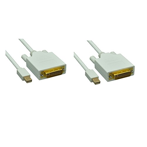 Apple Dual Link Dvi - C&E 2 Pack Mini Display Port to DVI 3-Feet Male Adapter Cable for Apple Laptops, CNE459375