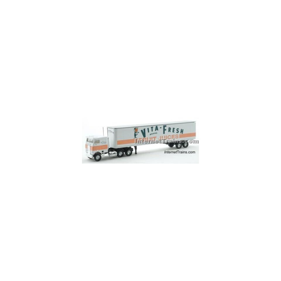 Con Cor N Scale Semi Truck w/45 Trailer   Vita Fresh Toys & Games