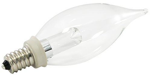 American Lighting PCA10-E12-WH Dimmable LED CA10 Flame Ti...