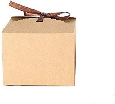 Caja de papel Kraft para tartas y pasteles; 5 unidades de color marrón y tamaño 14,2 x 14,2 x 8 cm, de Jungen: Amazon.es: Hogar