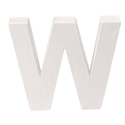 Glorex Cardboard Letter W FSC Mix, White, 10x 12x 3.5cm ()