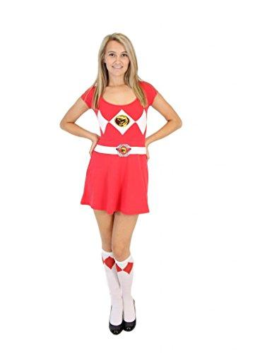 Power Rangers Red Ranger Costume Skater Dress (Juniors X-Large)