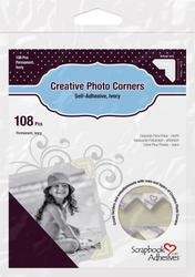 Bulk Buy: 3L/HELMAR Classic Style Paper Photo Corners .5'' (12mm) 126/Pkg Ivory 3L-PC-1629 (4-Pack) by HELMAR
