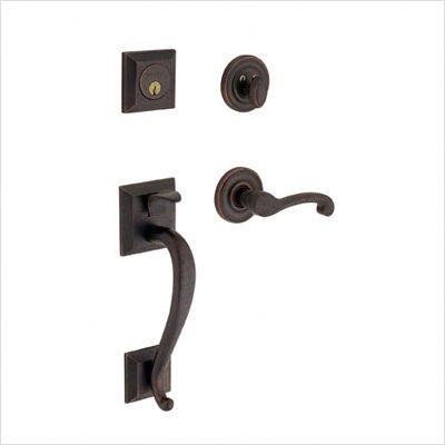 (Baldwin 85320.RENT Madison Sectional Trim Single Cylinder Handle Set with Right Handling Finish: Venetian Bronze)