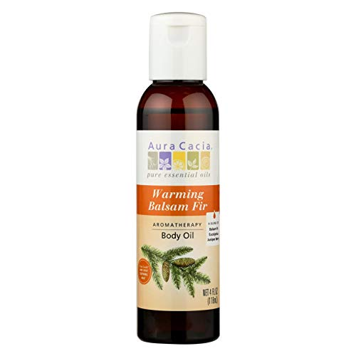 Aromatherapy Body Oil Warming Balsam Fir Aura Cacia 4 oz Liquid Aura Cacia Massage Aromatherapy