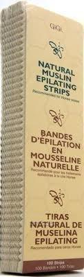 GiGi Natural Muslin Epilating Strips Large (3