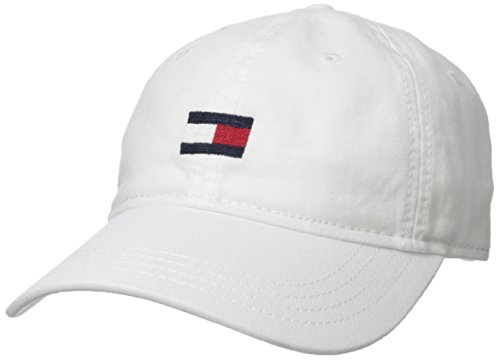 Tommy Hilfiger Men's Ardin Dad Hat, Tommy White, One Size from Tommy Hilfiger