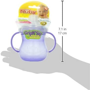 Multi 10-Ounce Nuby No Spill Cup 1-Pack