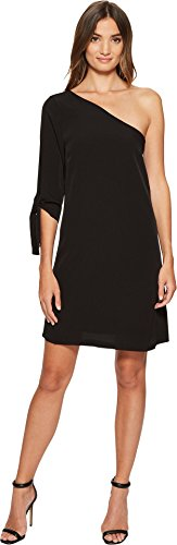 one shoulder black tie dresses - 2