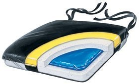 Econo Cushion - SkiL-Care Econo-Gel Vinyl Wheelchair Cushion, 16 x 16 x 2 inches by Skil-Care