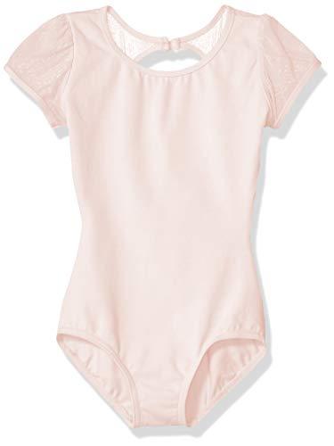 Capezio Girls' Little Puff Sleeve Keyhole Back Leotard, Pink, Small
