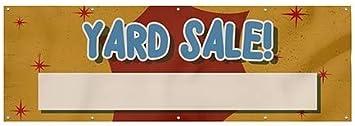 12x4 CGSignLab Nostalgia Burst Wind-Resistant Outdoor Mesh Vinyl Banner Yard Sale