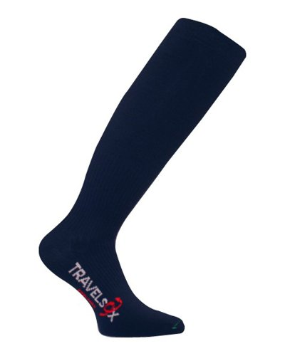 Eurosocks Men's/Women's Coolmax Moderate Support Over-the-Calf Socks, Navy, Large