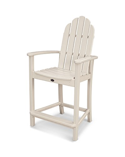 Trex Outdoor Furniture Cape Cod Adirondack Counter Chair in Sand Castle ()