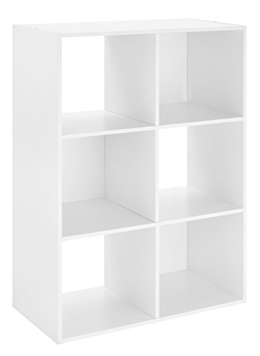 Whitmor 6 Cube Organizer, White (Closetmaid Cubbies)