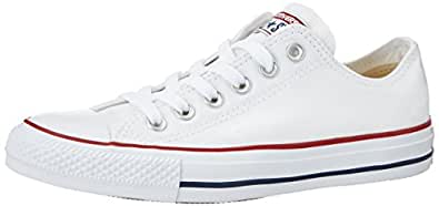 Converse Men's Chuck Taylor All Star Low Top Sneaker Optical White 3 M