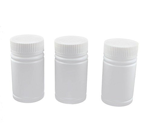 6pcs Plastic Empty Solid Powder Medicine Bottles Pill Tablet Container Holder White - Solid Cylinder Pull
