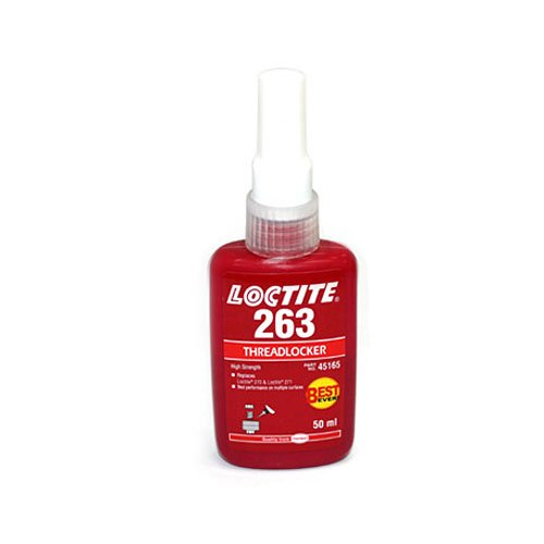 LOCTITE 263 Threadlocker, High Strength, Primerless, 250 ml