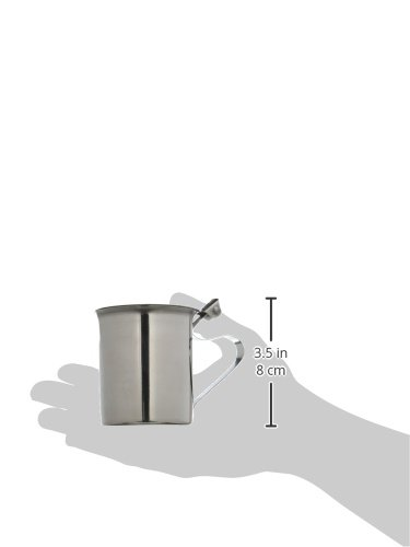 Winco SCT-10F Stainless Steel Stackable Creamer with Flat Cover, 10-Ounce by Winco (Image #2)