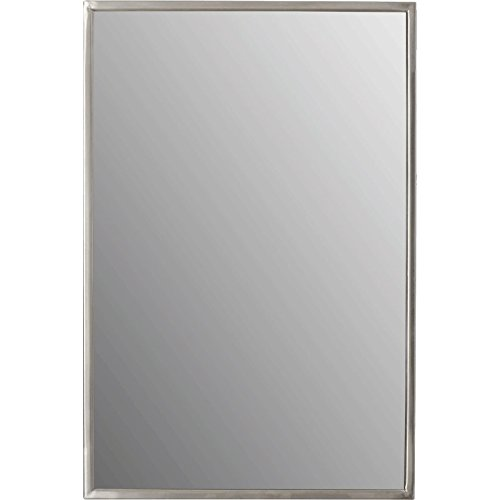 Meek Mirrors AMZ1510 Stainless Steel Channel Framed Large Rectangular Commercial and Residential Bathroom, Satin - Plaines Des Mall Outlet