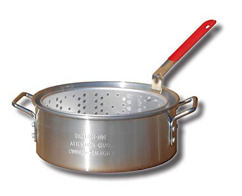 King Kooker KK2 9-Quart Aluminum Fry Pan with Basket