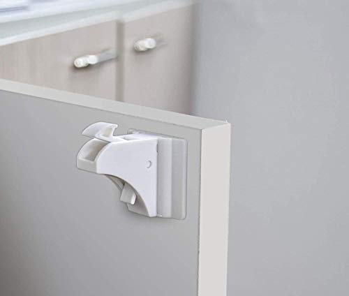 Keine Werkzeuge Erforderlich Magnetische Kindersicherung Schubladen Kindersicherung Schrank Einfache Installation in Sekunden 4 Schl/össer + 1 Schl/üssel Newlemo schranksicherung baby