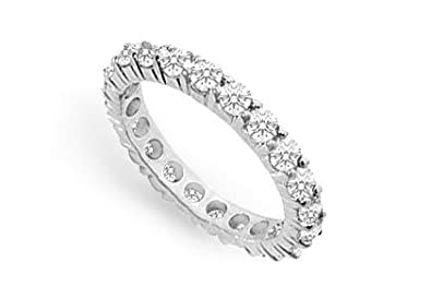 Diamond Eternity Bands In 14k White Gold 2 5 Ct Tdw Second And