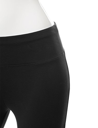 NINEXIS Womens Active Workout Athletic Running Yoga Capri Leggings