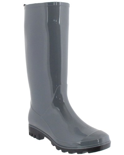 Capelli New York Ladies Lucido Solido Opaco Jelly Rain Boot Grigio
