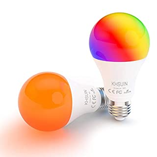 Smart Bulbs, LED Alexa Light Bulbs with RGB Color Changing,2.4G WiFi Bulbs A19 E26 Base,No Hub Required,Smart Light Bulb Works with Alexa and Google Home,2 Pack