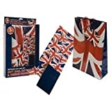 3 Piece Union Jack Gift Set With Gift Bag, Paper & Tissue