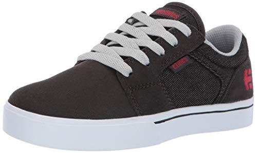 Etnies Kids Barge LS Skate Shoe, Charcoal, 2.5c Medium US Big Kid