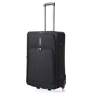 Ciudades® ampliable de mediano 26pulgadas) ligero equipaje Maleta Bolsa (Negro)