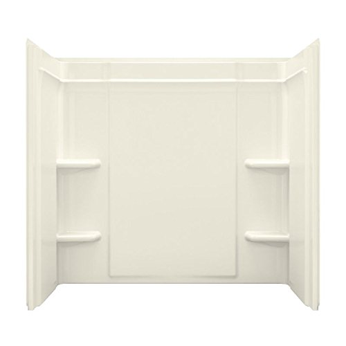 Sterling 71374100-96 Ensemble Vikrell 31.25-In X 60-In X 55-In Bathtub Wall Surround, Biscuit