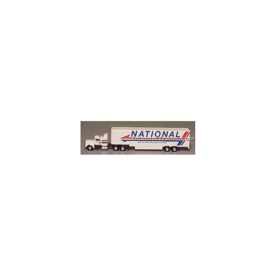 Cor N Scale Semi Truck w/48 Trailer   National Moving Toys & Games