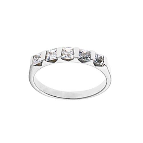 R&T - 70903 - Bague Femme - Argent 925/1000 -  3.1 Gr - Oxydes de Zirconium - Blanc