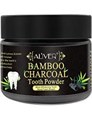 Activated Charcoal Teeth Whitening Powder 100% Natural Black Carbon Coconut with no Sensitivity for Tooth Whitening by Aliver (Bamboo Charcoal)]()